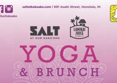 Yoga & Brunch @ SALT featuring Lanikai Juice