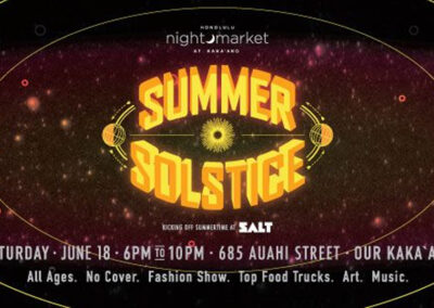 Honolulu Night Market – Summer Solstice