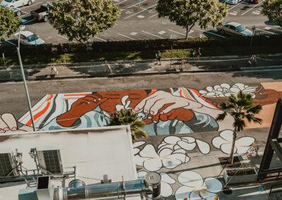 Inspiring On-Street Art Mural Installed on Auahi Street