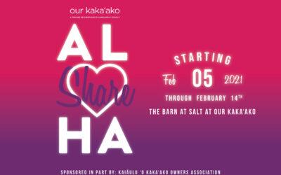"""Share AL♡HA"" Pop-up Art Installation at SALT at Our Kaka'ako"